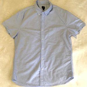J crew men buttons down shirt size L